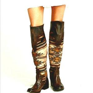 Freebird FB-Sun Woven Tapestry Knee High Boots